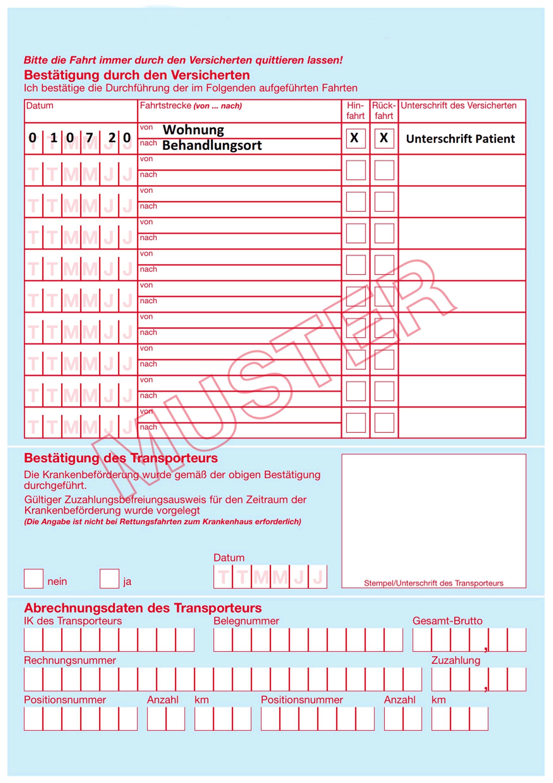 Formular Verordnung Einer Krankenbeforderung Uberarbeitet 9
